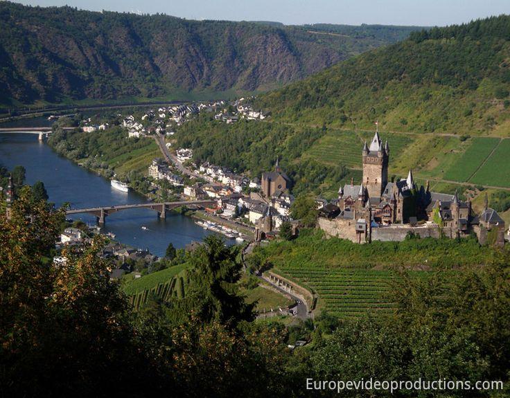 Château de Cochem dans la vallée de la Moselle en Allemagne