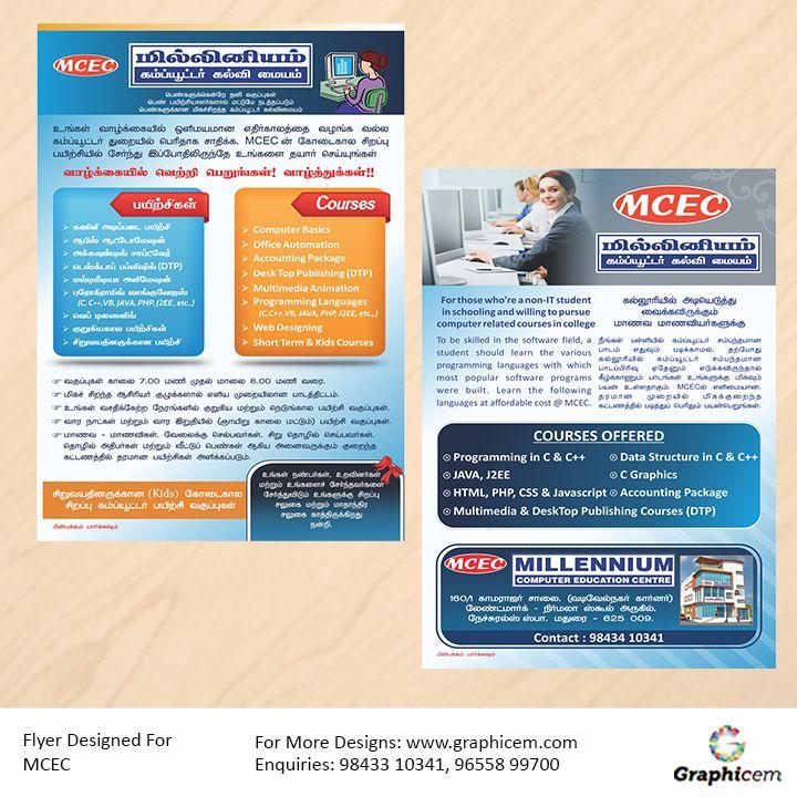 Flyer Designed For MCEC
