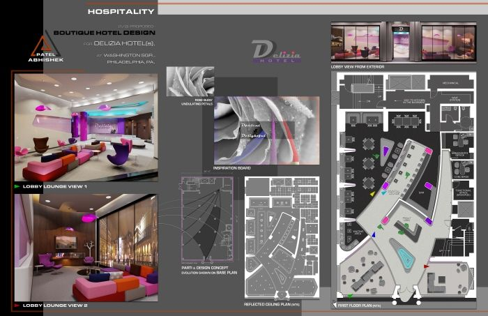 Interior Architecture & Design Portfolio Sample by Abhishek Patel, CID, LEED AP. at Coroflot.com