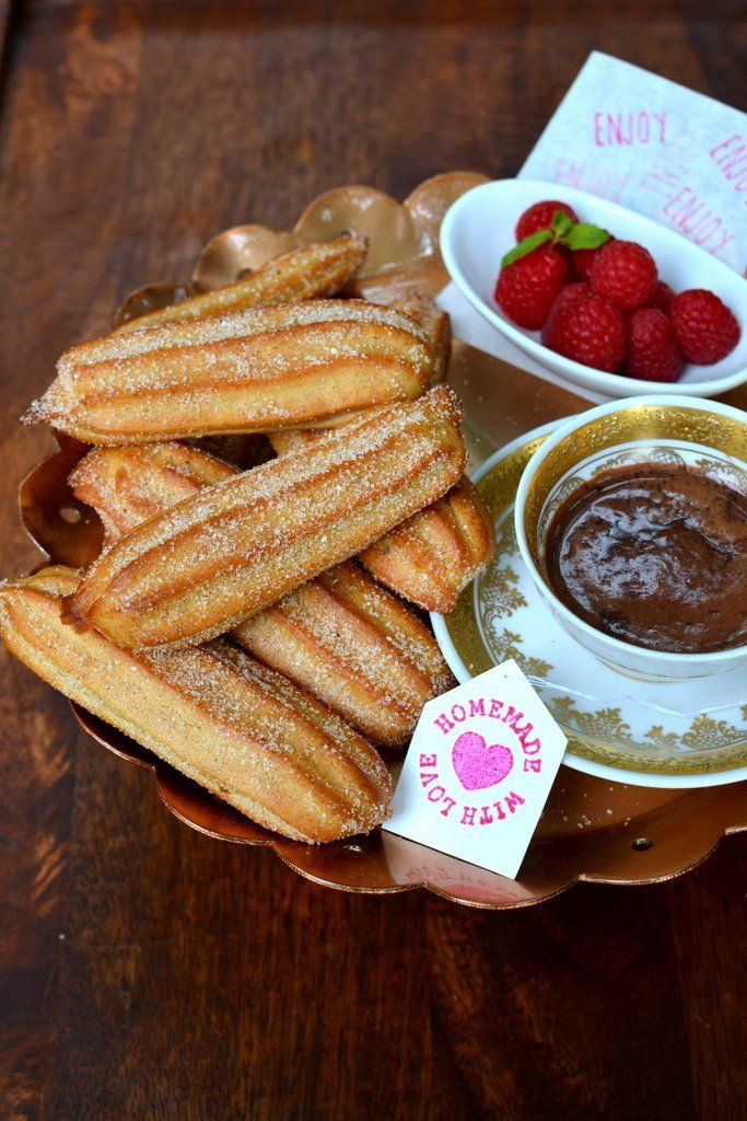 Baked Churros, Chocolate Dipping Sauce, Churros Spice, Hot Chocolate ...