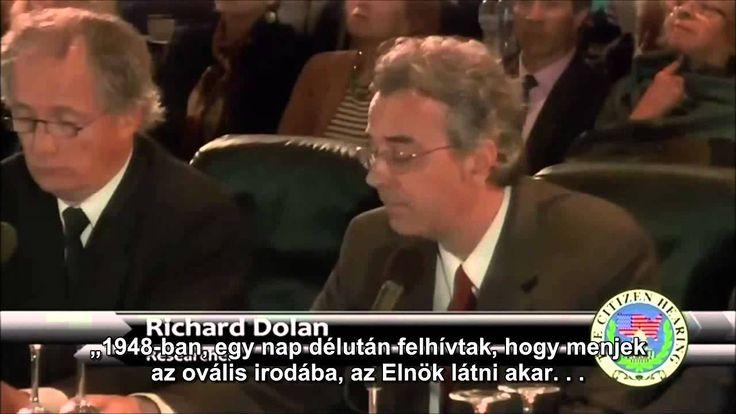 Richard M. Dolan történész beszél az ufó-jelenségekről közmeghallgatáson