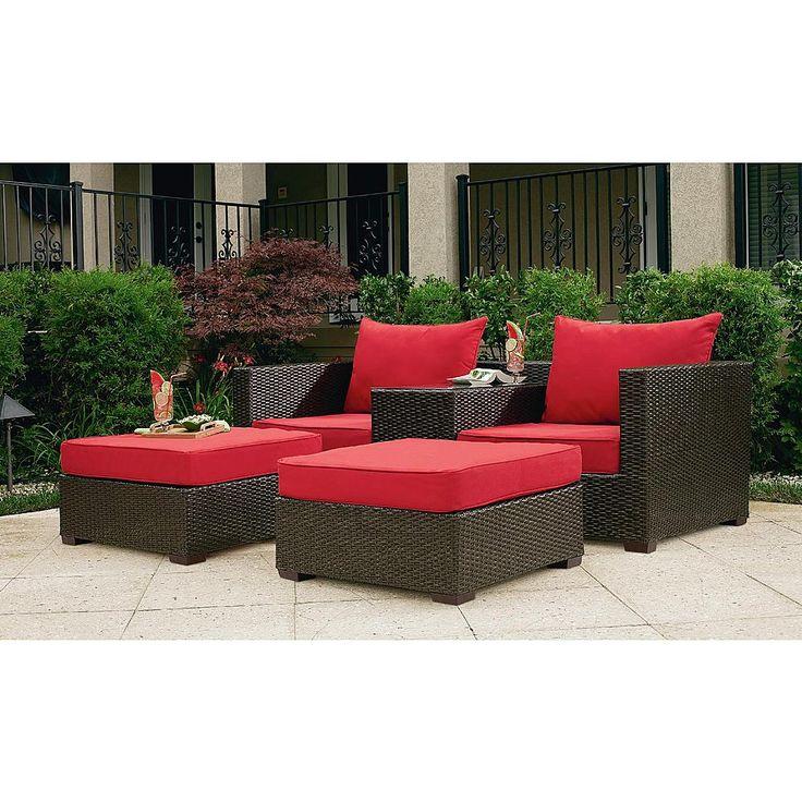 grand resort osborn 3 piece woven double lounger set featuring sunbrella fabric limited chaise lounge