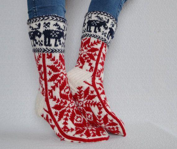 10 42 hand knit womens wool socks long socks knee door WoolSpace