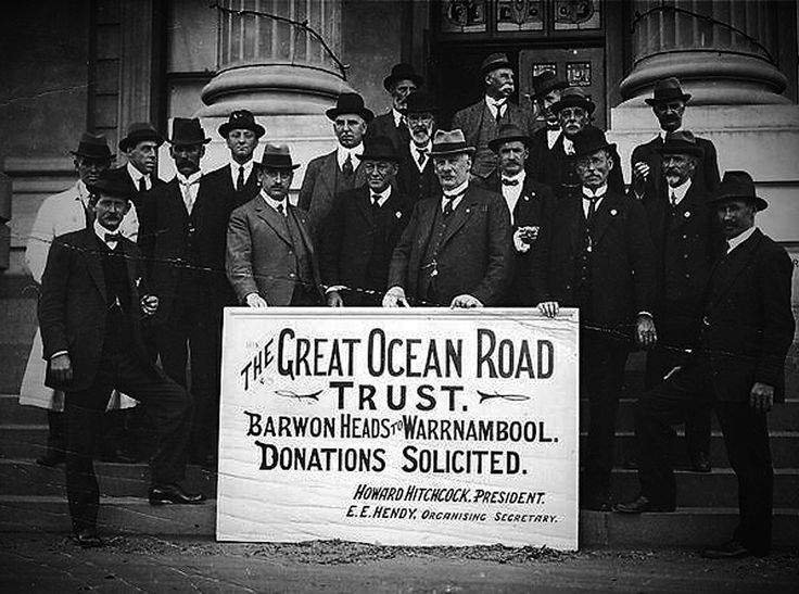 The Great Ocean Road Trust raised the money to build the Great Ocean Road.