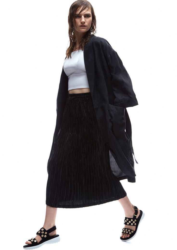 THIRD FORM SPRING 15 | SMOKERS ROBE #thirdform #fashion #streetstyle #style #minimalism #trend #model #black&white