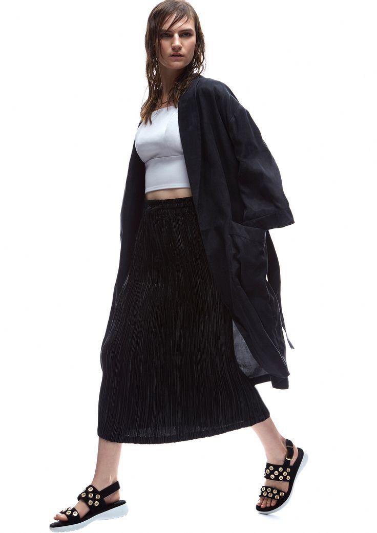 THIRD FORM SPRING 15 | SMOKERS ROBE #thirdform #fashion #streetstyle #style #minimalism #trend #model #black&white