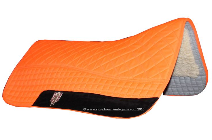 Neon Hunter Safety Blaze Orange Western Saddle Pad | PRI Double-Back Saddle Blankets - Bon-Vivant Unique Equestrian Supply & Accessories