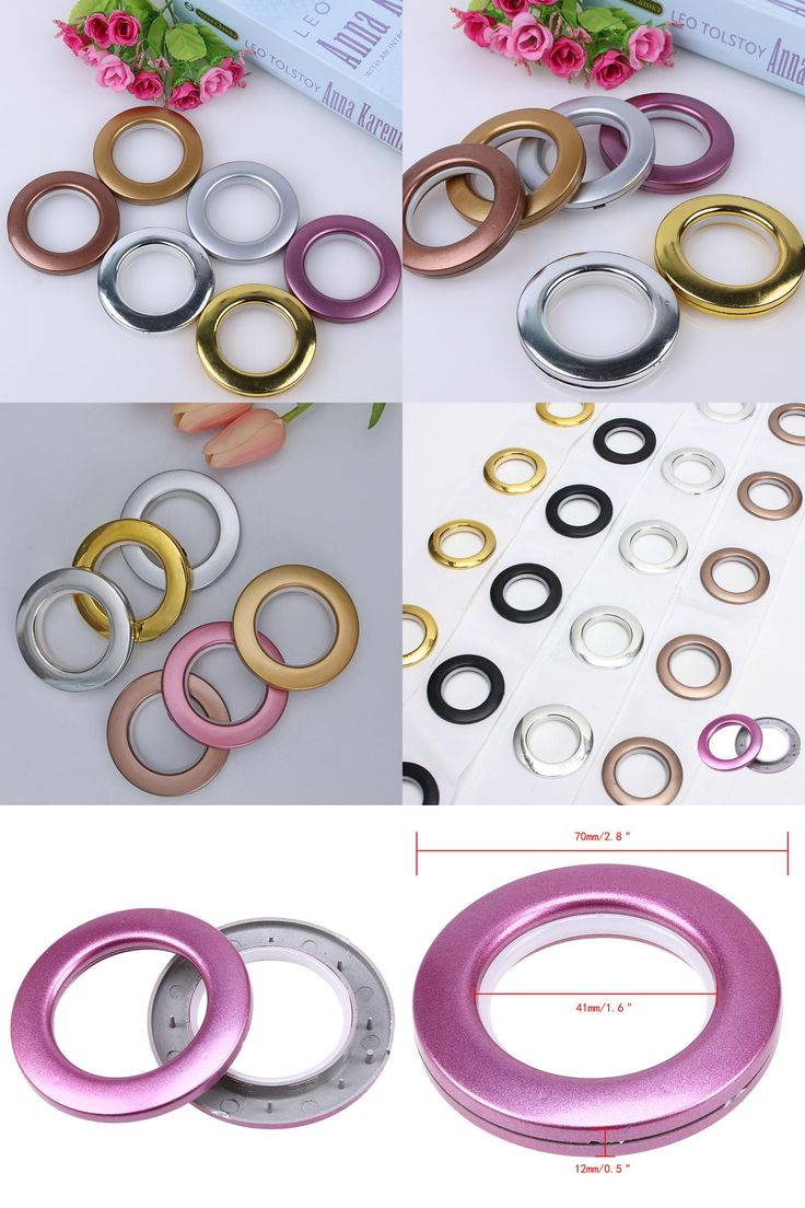 [Visit to Buy] 8Pcs Plastic Curtain Rings Eyelets Round Shape Curtain Ring Curtain Accessories Home Decoration eyelets rideau #Advertisement