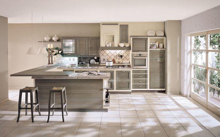 Terre di Toscana finitura Argilla #zappalorto #tuscany #madeinitaly #country #kitchen #wood #chic #interior