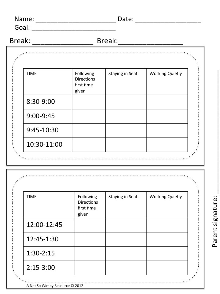 A Not So Wimpy Teacher's Behavior Management Manual: I Need a Break! Using Break Cards in Your Classroom