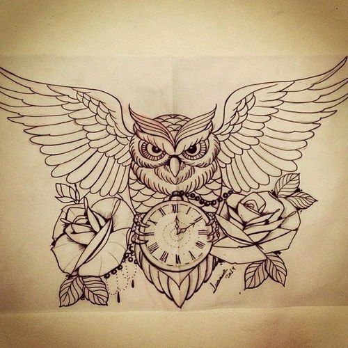 Imagem de owl, tattoo, and drawing