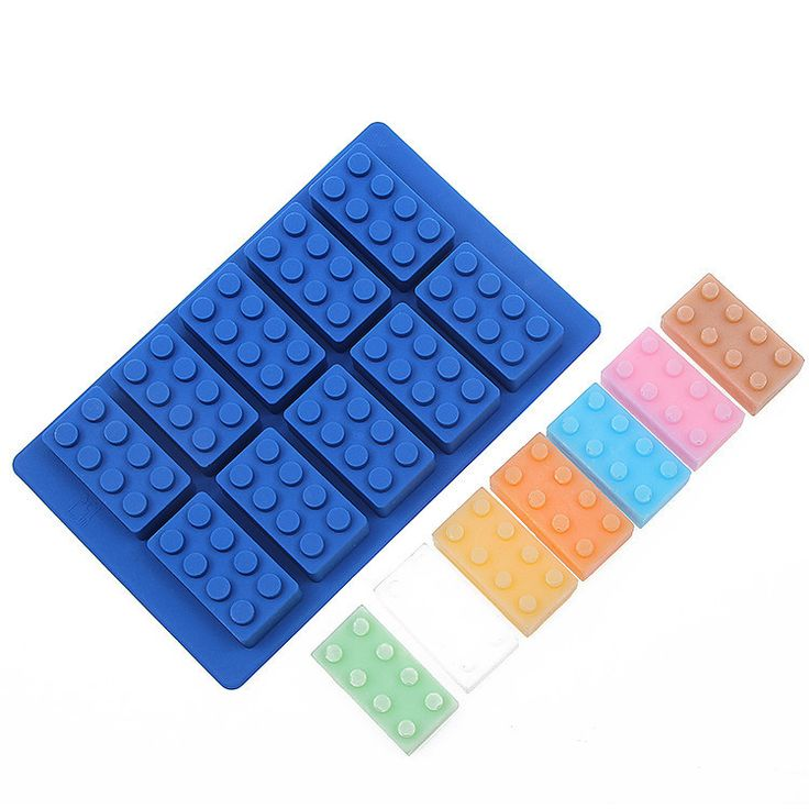 They told you not to play with your food, but they never said anything about the ice! Flexible silicone candy/ice/crayon mold suitable for making lego-like bricks. Can be used for baking, making jello