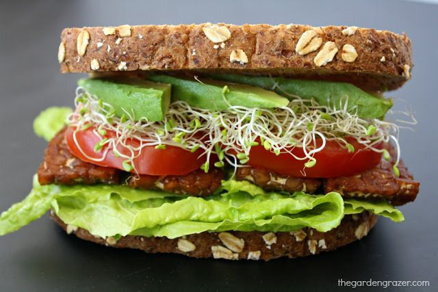... TLT Sandwich (Tempeh Lettuce Tomato) | Tempeh, Vegans and Sandwiches