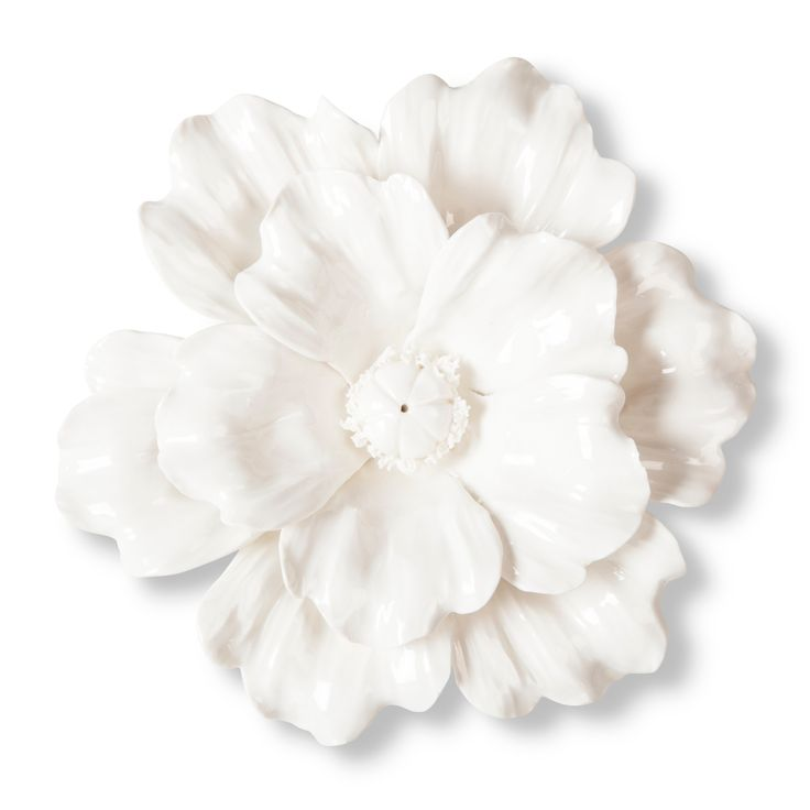 Ceramic Flower Wall Decor Target : Threshold ceramic flower wall sculpture white target