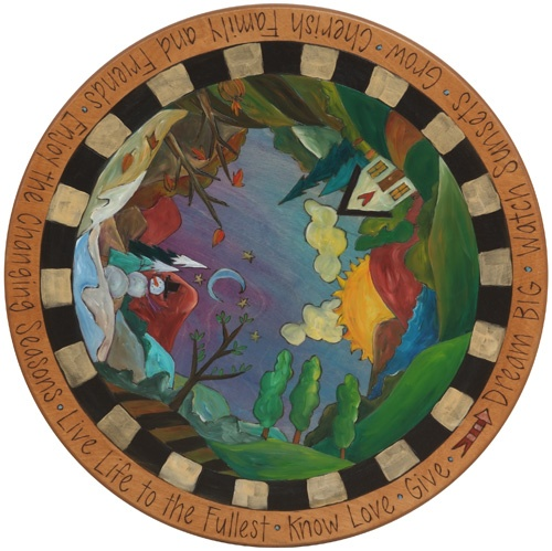 Hand-painted lazy susan from the wonderful artists at Sticks
