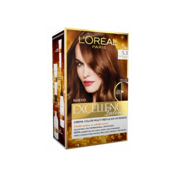 Loreal Excellence Intense 5 3 Light Brown Gold L Oreal Teinture Capillaire Masque Visage