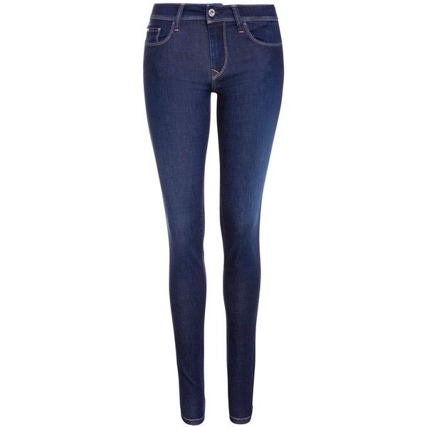 Salsa Jeans Colette Mid Rise Soft Skinny Jeans, Blue (42.985 CLP) ❤ liked on Polyvore featuring jeans, pants, bottoms, pantalones, calças, slim skinny jeans, super skinny jeans, denim skinny jeans, slim jeans and faded skinny jeans