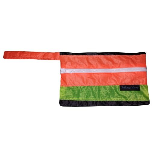 Recycled Kite Surf Sails repurposed into a fresh Clutch