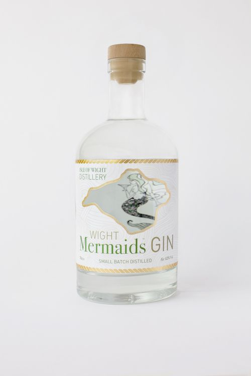 Isle of Wight Mermaids Gin, one of the first spirits distilled at the island's first and only distillery, along with Rock Sea Vodka, Apple Pie Moonshine.