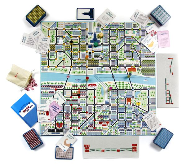 Bridges over the Vistula – boardgame by podpunkt , via Behance