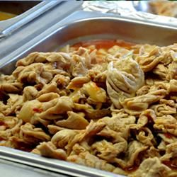 Creole Chitterlings (Chitlins) Just pinned this because it's popular in the south. Can't eat them myself :)