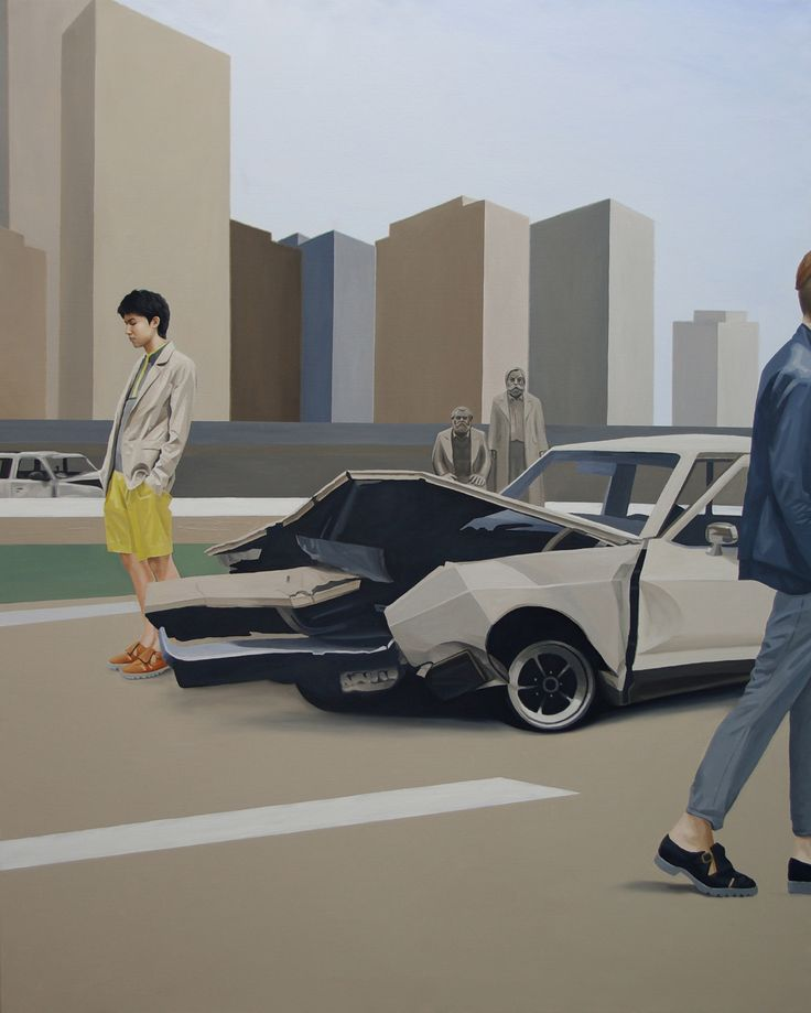 around the city, Oil on Canvas , 162.1× 130.3cm , 2011