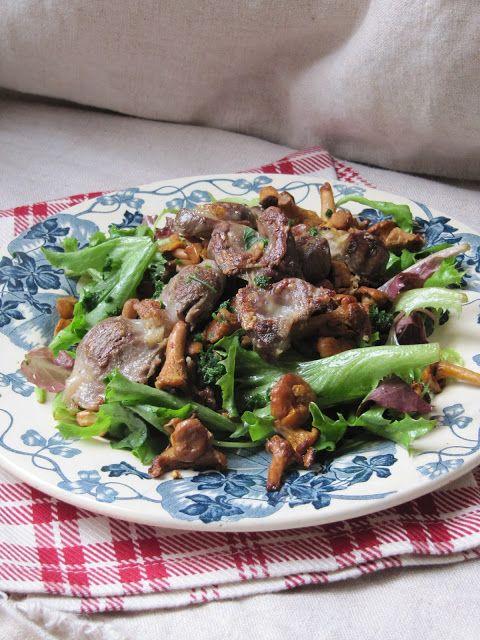 La cuisine d'ici et d'ISCA: Salade de girolles aux gésiers confits