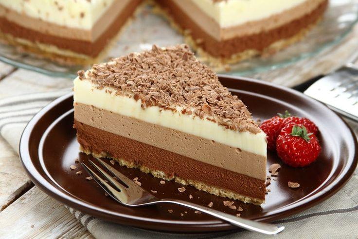 Ciasto z musem czekoladowym.