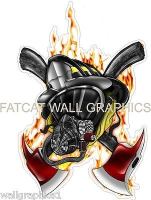 Fireman Firefighter Art Custom Printed WALL GRAPHIC ...