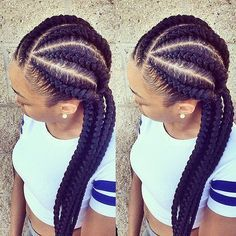 Need a Summer protective style that won't unravel while you swim? Try these ghana braids. They are very similar to cornrows, but with an added element.