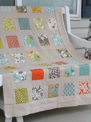 modern square garden quilt...finally, an idea for all the charm packs i've accumulated in my fabric stash...
