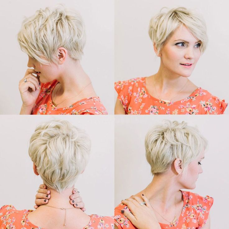 Funky Blonde and Short hairstyle