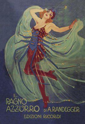 LEOPOLDO METLICOVITZ - IL RAGNO AZZURRO (THE BLUE : Lot 9704B