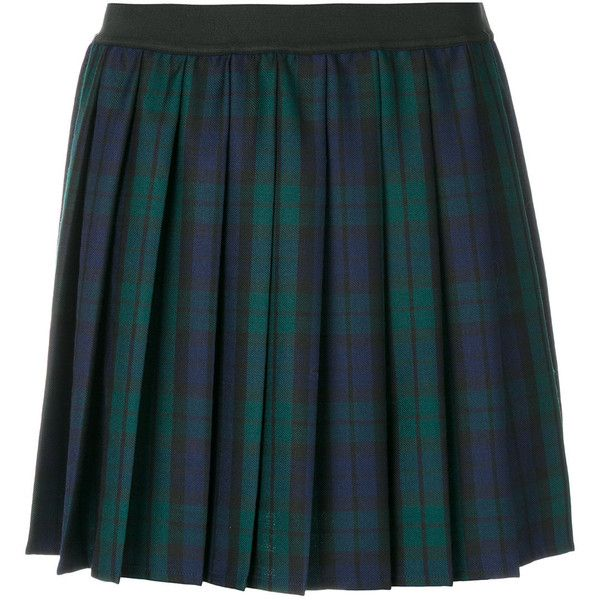 P.A.R.O.S.H. plaid pleated skirt ($311) ❤ liked on Polyvore featuring skirts, bottoms, green, blue skirts, green pleated skirt, pleated skirt, green tartan skirt and tartan skirts