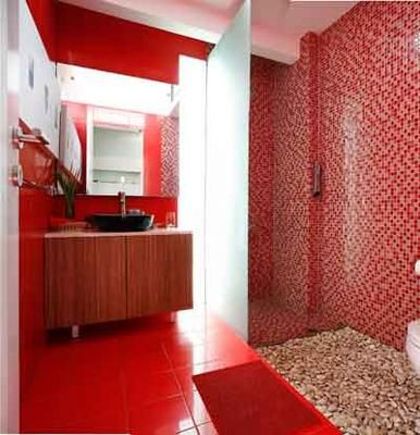 Mer enn 25 bra ideer om Red bathroom accessories på Pinterest