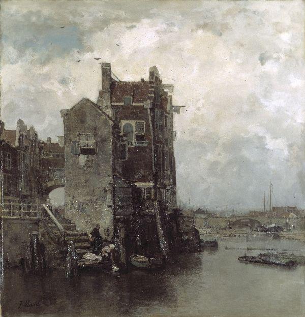 Jacob Maris - vrije fantasie van Dordrecht.