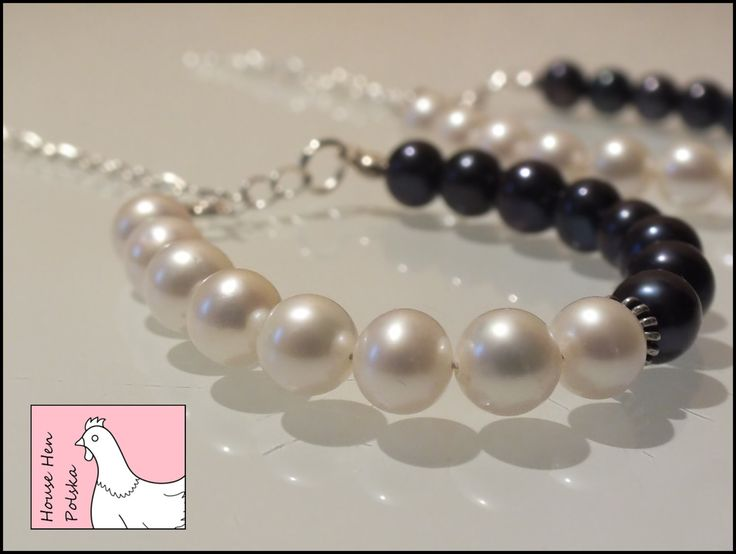 "Pearl Bracelet ""Night and Day"" by HouseHenPolska on Etsy"