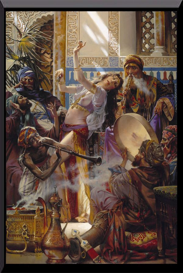 Belly Dancer in the harem
