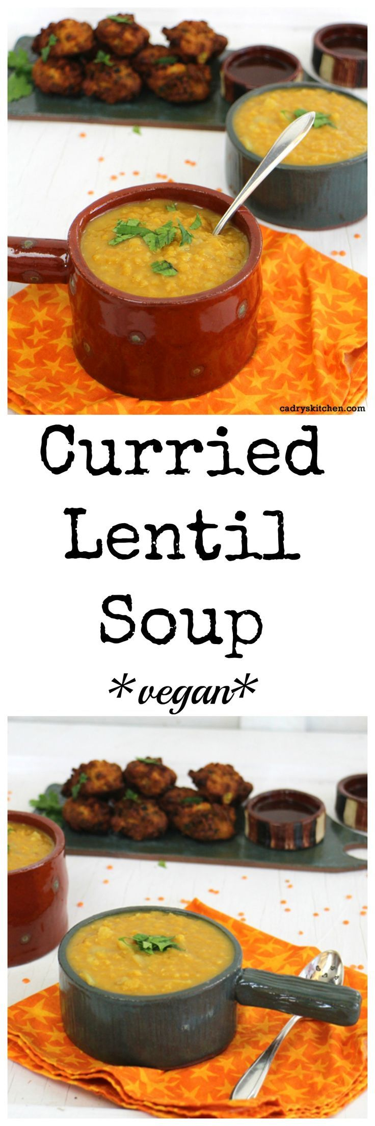 Curried lentil soup - A pantry friendly vegan meal | cadryskitchen.com
