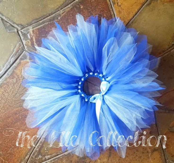 Shades of blue tutu skirt custom made by the Elle Collection in South Africa.  To order email Karin on theellecollection13@gmail.com