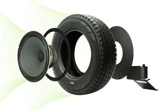 A Seal Eletronics, uma empresa de áudio e artigos eletrônicos, teve a ideia de criar um amplificador com um pneu reutilizado, combinando tecnologia com um design eco-friendly.  De acordo com a Japan Trend Shop, o pneu aumenta a acústica e a estética, além de ser compatível com Bluetooth.