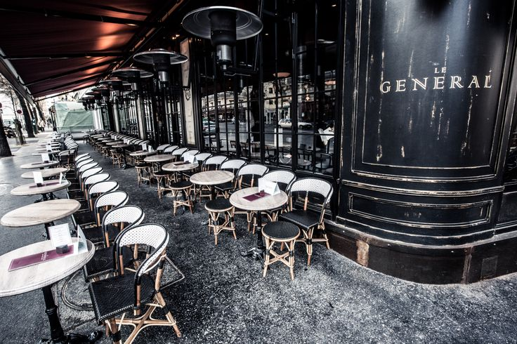 ext rieur terrasse le g n ral paris bar grill cafe