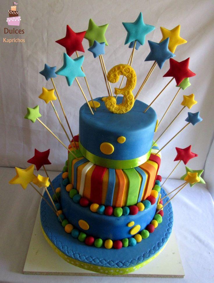 Torta Cumpleaños de Colores #TortaColores #TortasDecoradas #DulcesKaprichos
