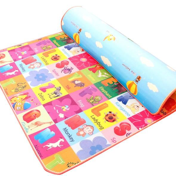 New 10mm Thickness Two Sides Soft Kids Play Mat For Picnics Carpet Rug Waterproof Baby Crawling Mat Crawling Baby Kids Playing Rugs On Carpet