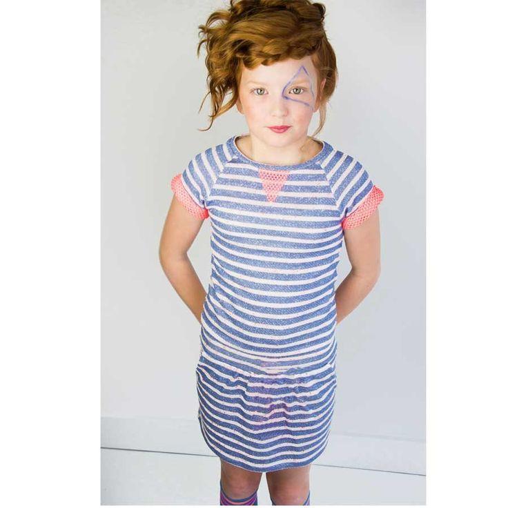 Stripes we love them.. en zeker wanneer ze deze heerlijke zomerse kleuren hebben. De topitm sweat jurk Karen is gemaakt van een dunne sweat katoen. @topitm dress http://stoerkids.nl/shop/kinderkleding/meisjes/topitm-sweat-jurk-karen/