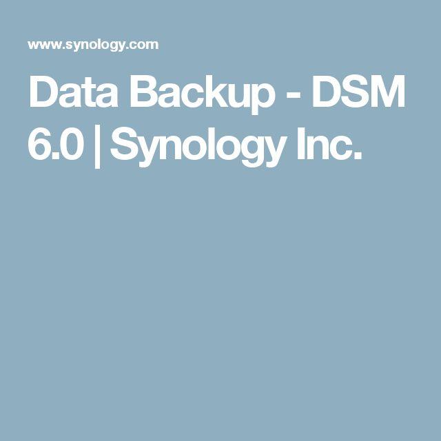 Data Backup - DSM 6.0 | Synology Inc.