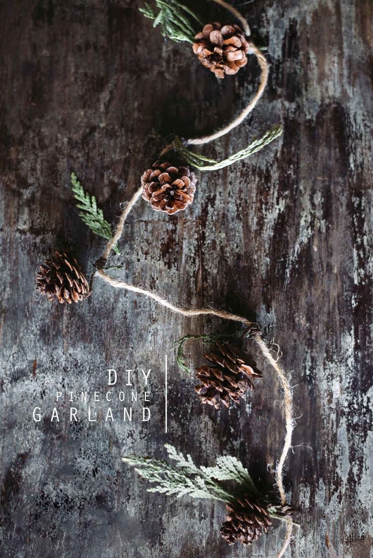 Pinecone Garland. - CaseyLeigh/The Wiegands