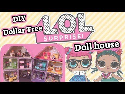 DIY DOLLAR TREE LOL SURPRISE <b>DOLL HOUSE</b> | <b>Dollhouse</b> ...
