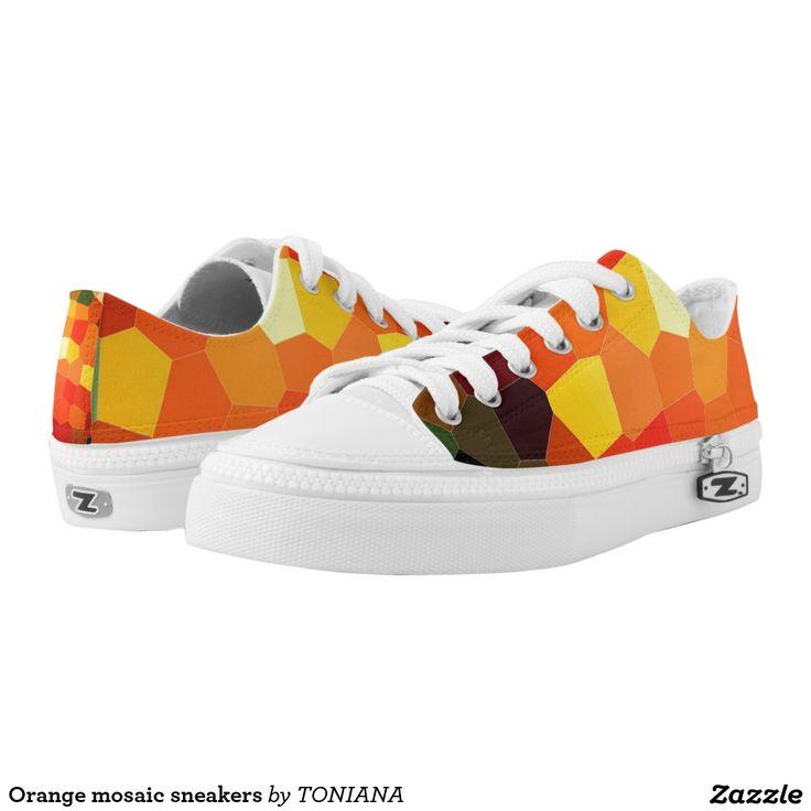 Orange mosaic sneakers