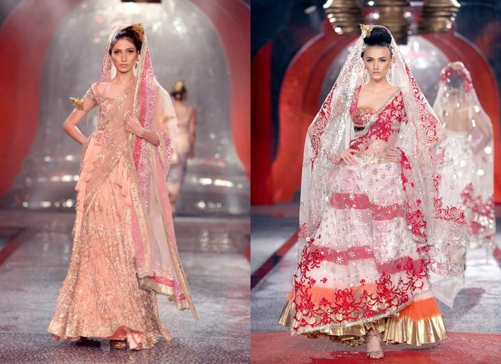 """This sheer, sensual and dramatic summery bridal collection by Suneet Varma clearly accomplishes the designer's goal to """"adorn the body and bejewel the soul""""."""